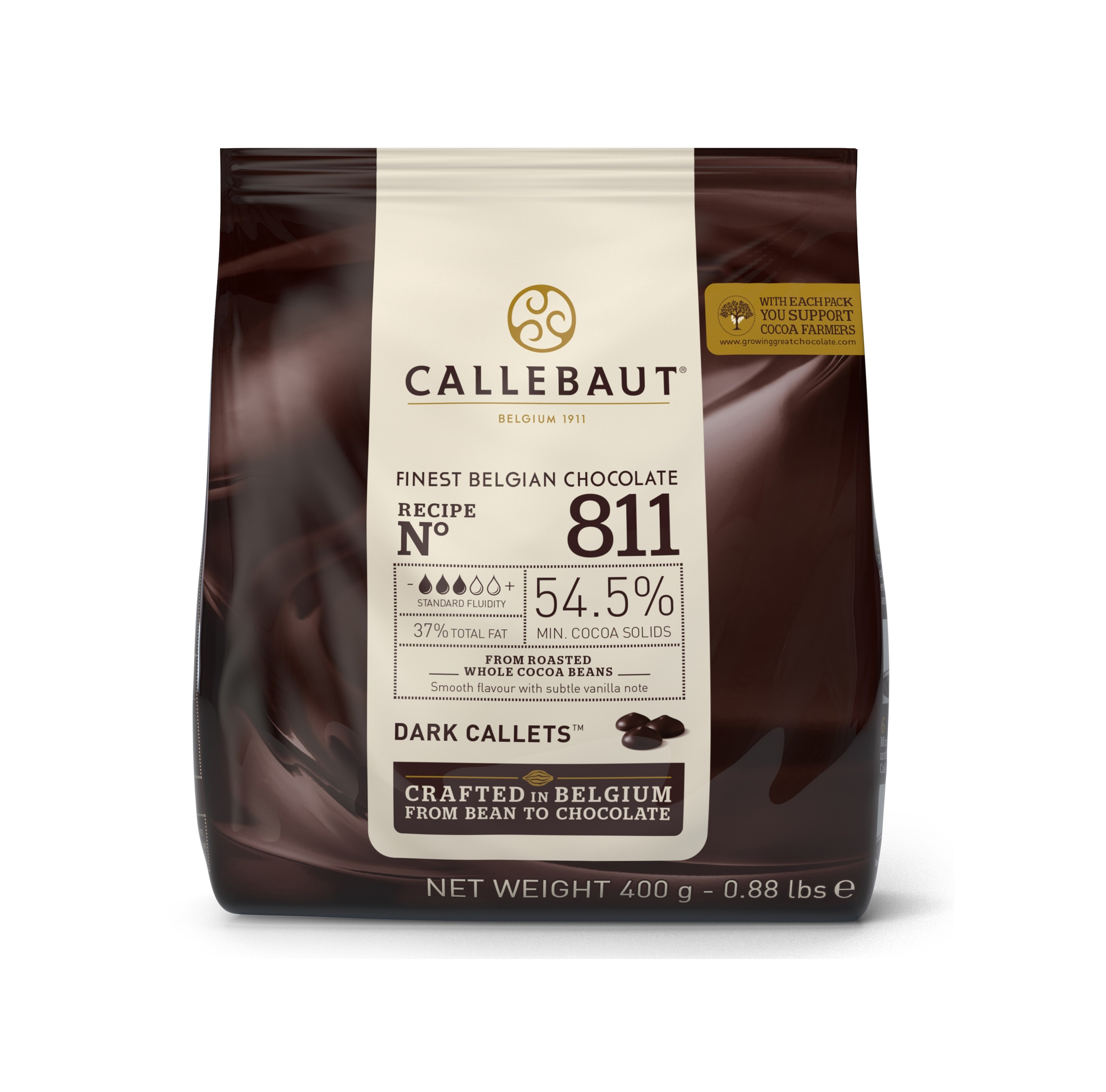 Horká čokoláda 54,5% Callebaut 400g