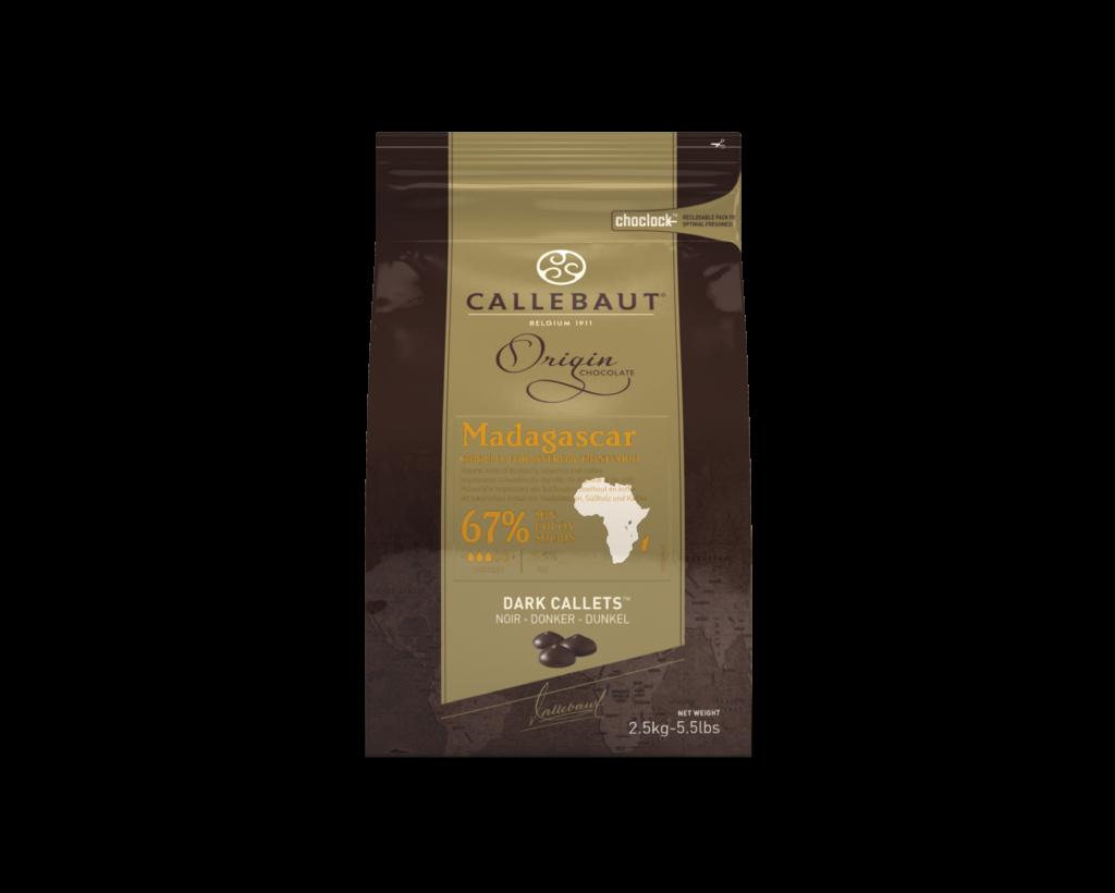 Madagaskar horká čokoláda 67% Callebaut 2.5kg