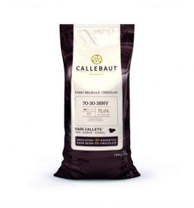 Horká čokoláda 70,4% Callebaut 10kg
