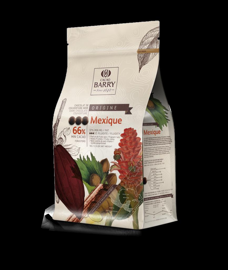 Mexiko horká čokoláda 66% Cacao Barry 2.5kg