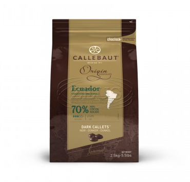 Equádor horká čokoláda 70% Callebaut 2.5kg