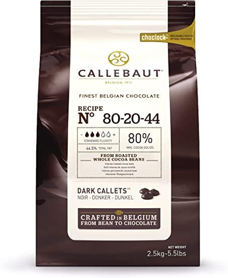 Horká čokoláda powerfull 80% Callebaut 2.5kg
