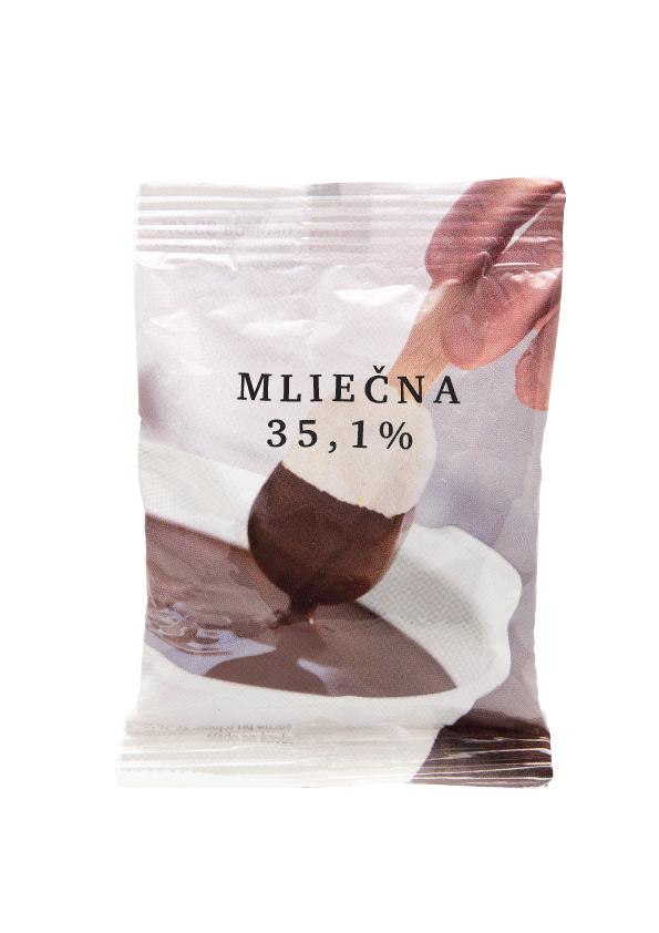 Cokolada na pitie mliecna 1kg/20ks/