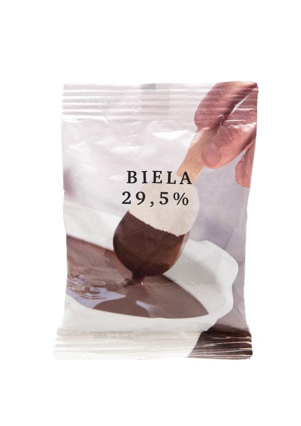 Cokolada na pitie biela 1kg /20ks/