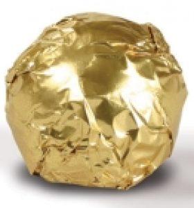 Fólia na truffle zlatá