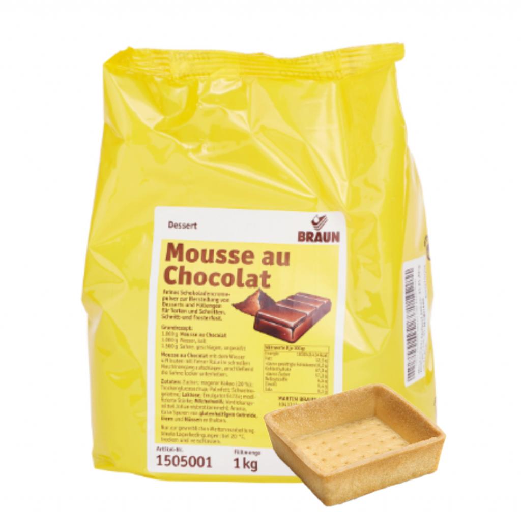 Tartalettky štvorec 7cm + 1kg čokoládový mousse ZDARMA