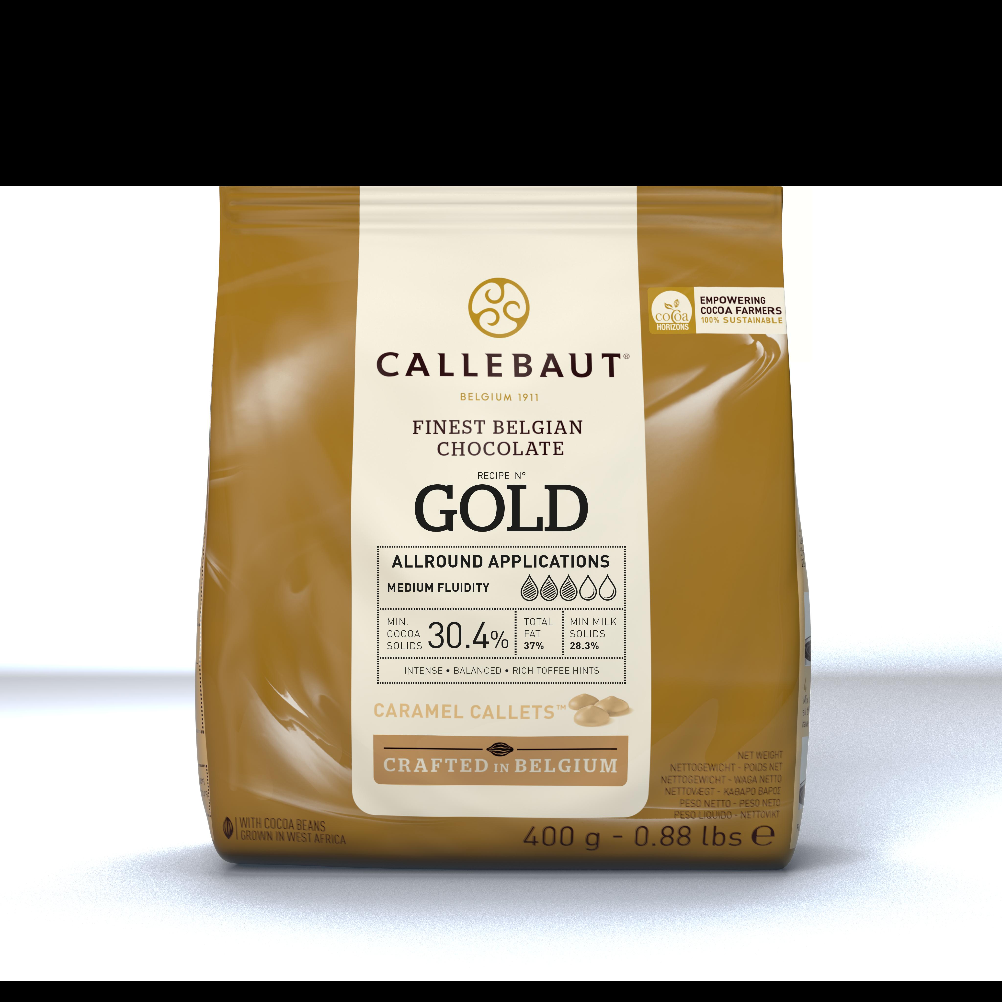 GOLD karamelová čokoláda Callebaut 400g