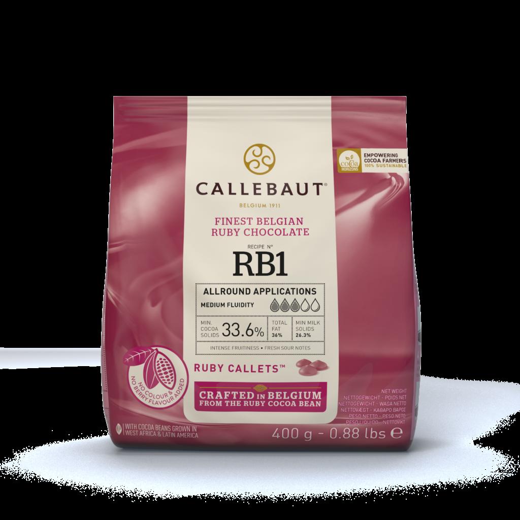 Ruby RB1 čokoláda Callebaut 400g